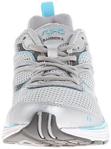 Ryka Women's Illusion 2 Running Shoe Chrome Silver/Steel Grey/Winter Blue UotjMmZJ
