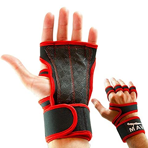 Mava Silicone Padded Gym Workout Gloves – Callus Protector Glove - Cross Training Hand Wraps (Wear Mano Avvolge)
