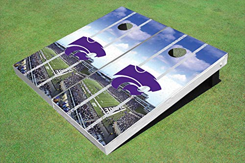 Skip's Garage Kansas State Wildcats Home Stadium 2x4 Cornhole Boards (24