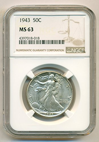 1943 Walking Liberty Half Dollar MS63 NGC