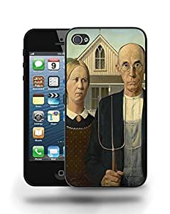 American Gothic Painting Artwork Phone Case Cover Designs for iPhone 4