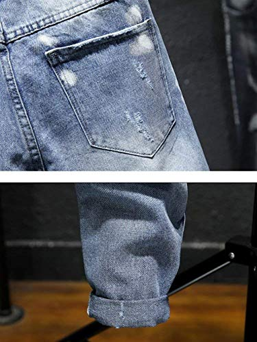 Denim Jeans Pantaloni Vintage Moda Strappati Blau Estilo Casual Especial Uomo ZPqr7xwZ