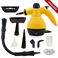 ALL IN ONE Comforday Handheld Steam Cleaner, HIGH PRESSURE Chemical Free Steamer for Bathroom, Kitchen, Surfaces, Floor, Carpet, Grout and more, BEST GERM KILLER and SANITIZER with 9 FREE Accessories