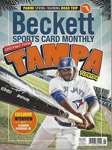 NEWEST GUIDE: Beckett Sports Card Monthly Price Guide (April 3, 2019 release/V. Guerrero Jr. cover) ***Pricing for BB begins 2016, 17/18 for BK & HK & 2018 for FB