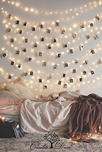 LED Photo String Lights 20 Clips Battery Powered Lights, Wedding Party Home Decor Lights for Hanging Photos, Cards and Artwork (8.2 Ft.) Warm White by Casabits Decor