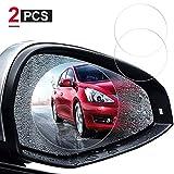 2 Pcs HD Car Rearview Mirror Rainproof Film, Anti-fog/Anti-glare/Anti-scratch Car Mirror Film, Increase Visibility Car Waterproof Membrane film for All Models of Cars & SUVs