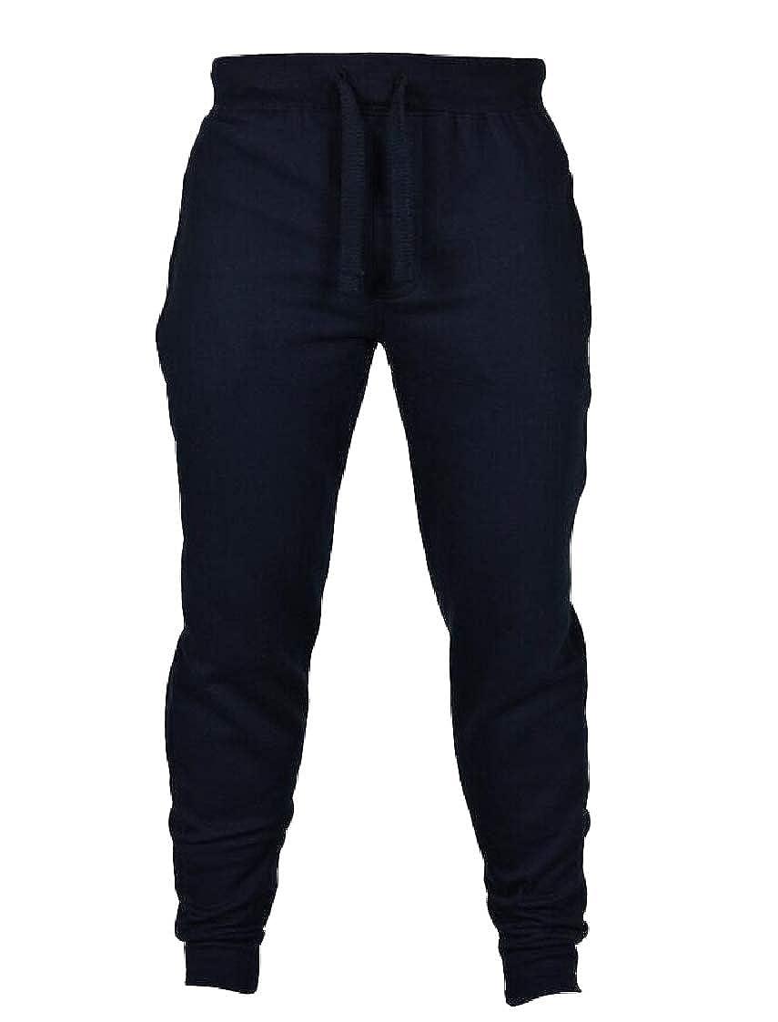 Pandapang Mens Pure Color Casual Sport Trousers Jogging Fitness Pants