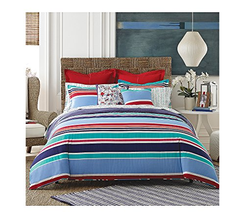(Tommy Hilfiger Dunmore Stripe Comforter Set Twin/Twin XL Comforter Set)