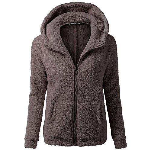 Brown Hooded Fleece - 5