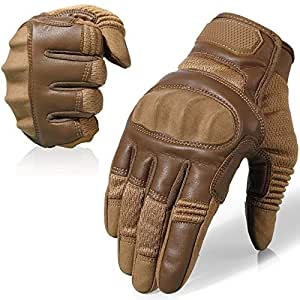 AXBXCX Touch Screen Full Finger Gloves for Motorcycles Cycling Climbing Hiking Outdoor Sports Brown S