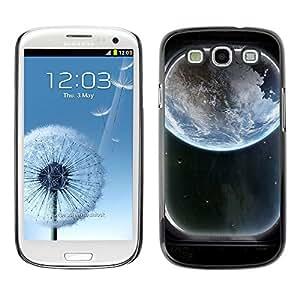 TopCaseStore / la caja del caucho duro de la cubierta de protección de la piel - Space Ship Window View - Samsung Galaxy S3 I9300