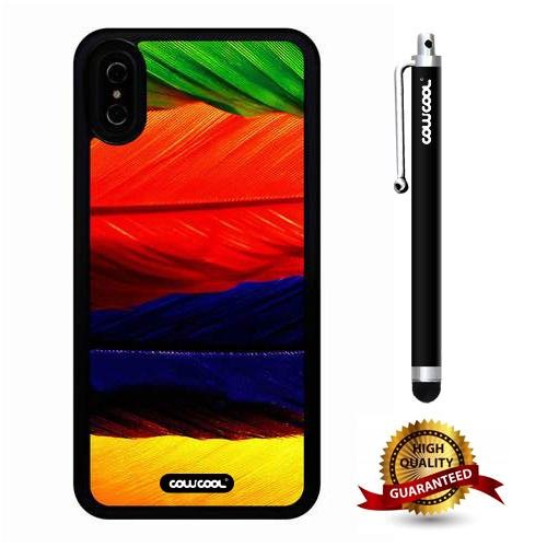 iPhone X Case, Feather Case, Cowcool Ultra Thin Soft Silicone Case for Apple iPhone 10 - Flag Feather