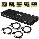 TESmart KVM Switch 8 Port HDMI | 4K 30Hz Ultra HD | Enterprise grade | RS232 | LAN Port | IP Control | Auto Scan | Rackmount [Control Eight PCs