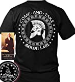 Sons of Libery Come And Take - Molon Labe Spartan . Black/XL T-Shirt. Made i...