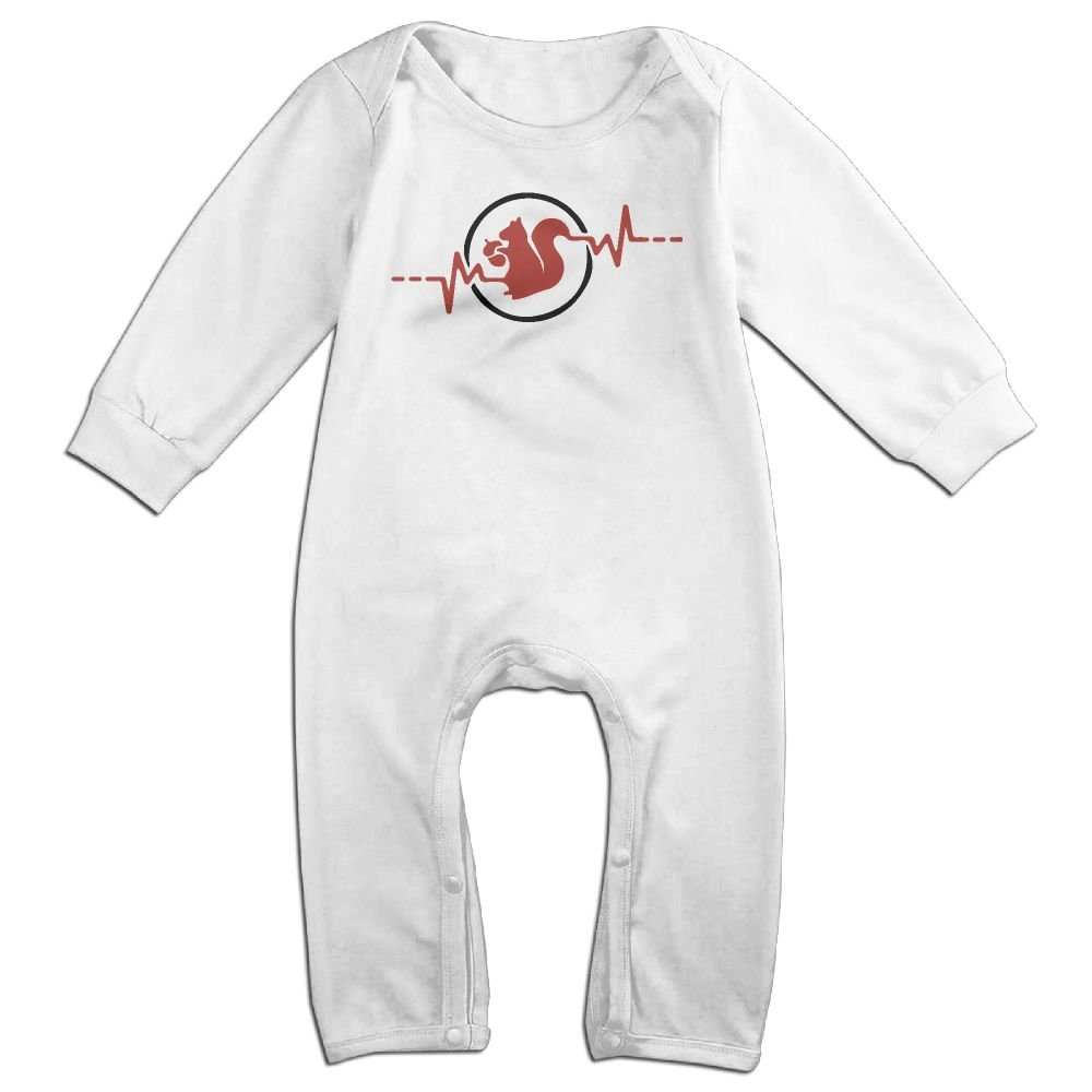 Mri-le1 Toddler Baby Boy Girl Coverall Squirrel Heartbeat-1 Infant Long Sleeve Romper Jumpsuit