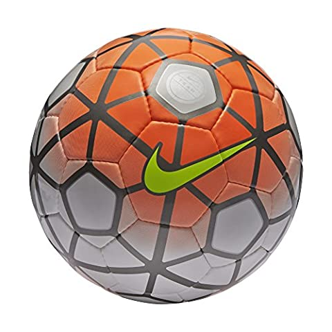 Nike Club Team Soccer Ball, White/Total Orange/Black (3)