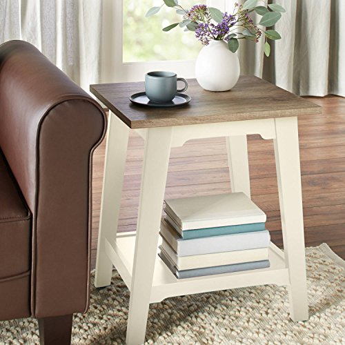 Better Homes and Gardens Bedford Accent Table, Ivory