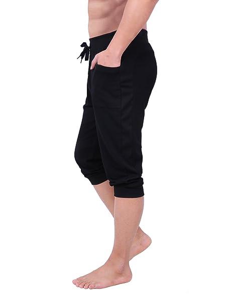 Amazon.com: HDE - Pantalones capri de yoga con puños para ...