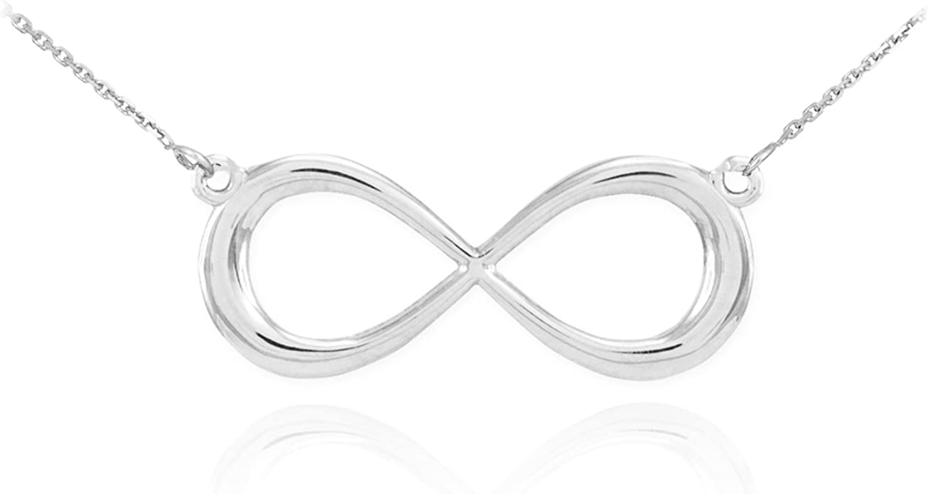 Infinity Charm Figure 8 Necklace Pendant .925 Sterling Silver Women/'s Jewelry