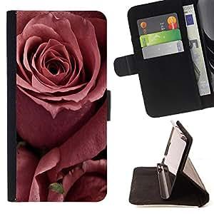 - Rose Red Pink Flower - - Prima caja de la PU billetera de cuero con ranuras para tarjetas, efectivo Compartimiento desmontable y correa para la mu?eca FOR Apple iPhone 6 6S 4.7 King case