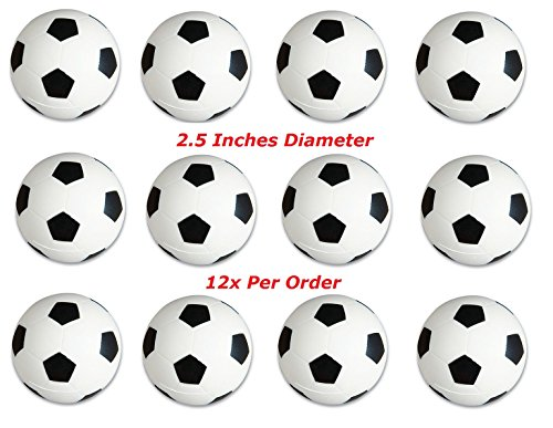 One Dozen 2.5 inches Soccer Stress Balls (12)]()