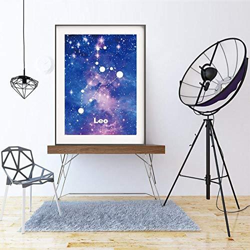 Geiqianjiumai Cuadro en Lienzo póster Universo Estrellado Cielo ...