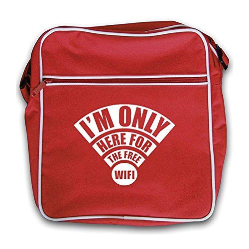 I'm Here Flight Retro Red red Free Only Wifi Bag The For FrwFqga
