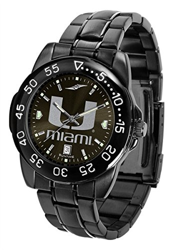 NCAA Miami Hurricanes Fantom Sport Watch - Black by Football Fanatics