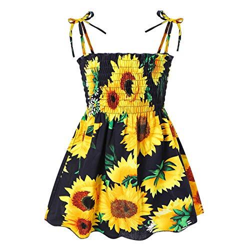 Soapow Baby meisje kleding afgedrukt jarretel prinses jurk outdoor slijtage