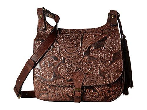Patricia Nash London Saddle Bag Dark Brown Handbags – Anna s Collection 7ad5caddb8ae