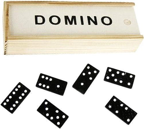Juego de Mesa Domino, Caja con 28 Tacos Negros, Bolas Blancas, Pasa, Tiempo, diversión para niños y jóvenes: Amazon.es: Hogar