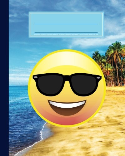 Emoji Beach Sunglasses Composition Notebook: 100 Sheets (200 Pages) Softcover Journal, College Ruled, 8