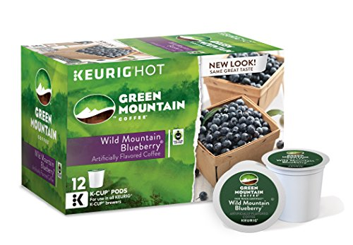 Unripe Mountain Coffee Wild Mountain Blueberry, Keurig Single-Serve K-Cup Pods, 72 Count (6 Boxes of 12 Pods)