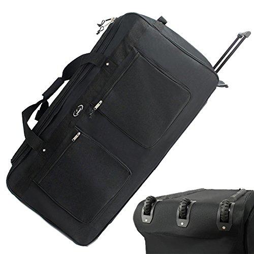 XXXL Trolley Reisetasche AUSWAHL Reise Koffer Tasche Stoff Sporttasche Trolly (122L (80 cm))