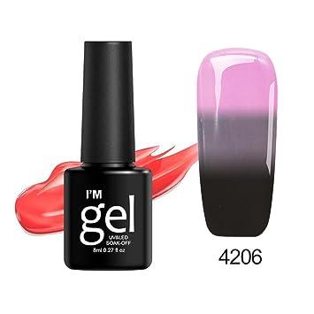 Amazon.com : Gel Nail Polish Color Changing, Iuhan 8ml Thermal Nail Polish Color Changing Peel Thermal Ultra-thin Glitter Soak Off UV Gel (F) : Beauty