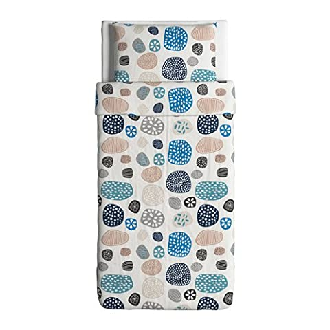 Ringkrage Duvet Cover and Pillowcase Blue White Multicolor Twin (Ikea Twin Bedding)