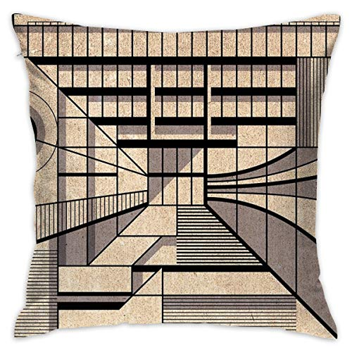 "Yoate Co. Birmingham Central Library Home Decorative Throw Pillow Case Cushion Cover for Gift Home Couch Bed Car 18"" x18"""