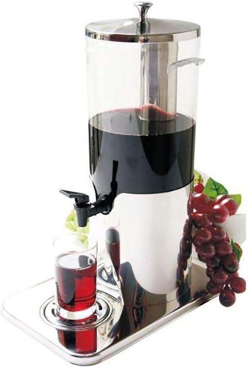 NBNBN Dispensador Casero de Cerveza Barril Transparente Maquina expendedora de 5 litros de Cerveza máquina dispensador de cóctel Desayuno Buffet Bares Hoteles (Color : Silver, Size : 5L)