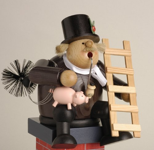KWO Chimney Sweep Sitting German Incense Smoker Made in Germany New by Pinnacle Peak Trading Company