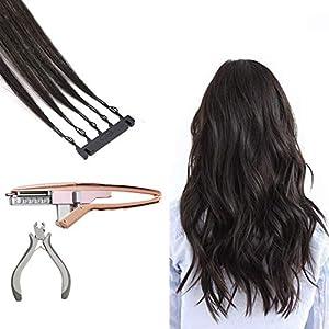 No Trace 6D Real Human Hair, Hidden Hair Extensions for Women – Salon Professional Human Hair Extensions 40 Roms,Black…