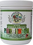 natural wealth omega 3 - Super Omega Greens Complete SUPERFOOD Supplement with Greens, Vegetables, Flaxseed, Fiber, Antioxidants, Enzymes, Probiotics, Vitamin C and Omega-3!