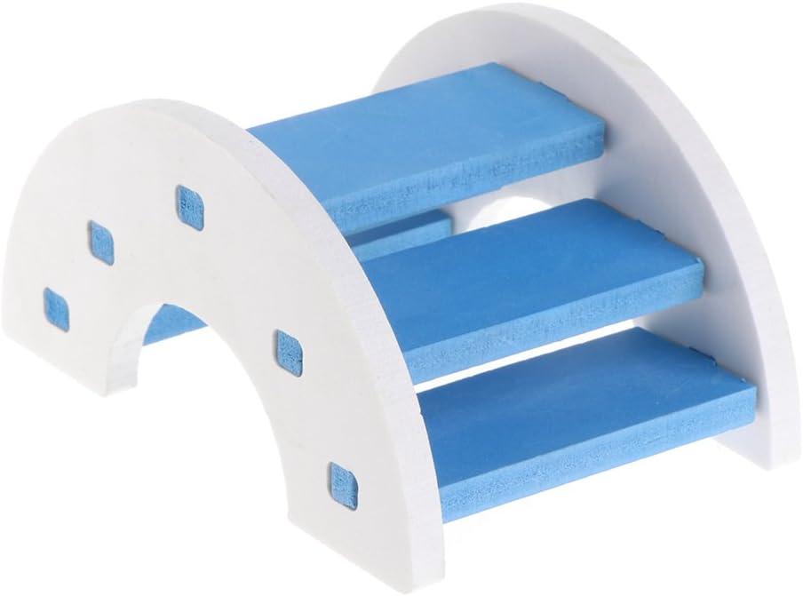 SimpleLife Escalera Colgante de Madera Puente Hamster Toy Puente de PVC de Madera Balancín: Amazon.es: Hogar
