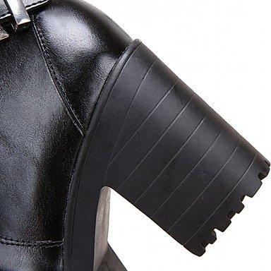 Botines Dedo Mujer Heart Confort amp;m hasta Invierno Innovador Tacón Hasta Robusto Tobillo Redondo El Brown Botas Zapatos Semicuero Otoño 6HarW5wRHq
