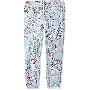 HUE Women's Plus Size Cuffed Essential Denim Skimmer Leggings