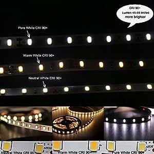 Amazon marswell cri 90 led strip lights neutral white 4000k marswell cri 90 led strip lights neutral white 4000k 4500k daylight smd5630 non aloadofball Images