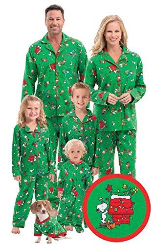 PajamaGram Flannel Charlie Brown Christmas Pajamas for Ch...