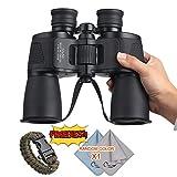 COSTIN 12 x 50 Binoculars for Adults Kids, FMC Compact Binocular Folding Durable Binoculars Stargazing for Bird Watching Children Sporting Game (Black) +Carrying case+Strap Review