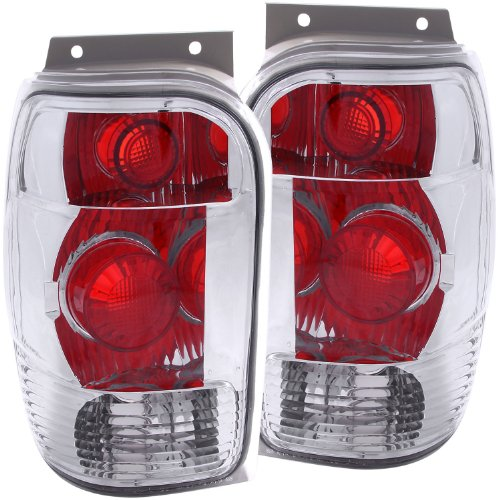 (Anzo USA 211082 Ford Explorer Chrome Tail Light Assembly - (Sold in Pairs))