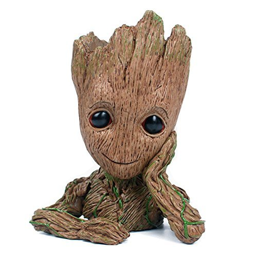 NUOKEXIN Baby Groot Flowerpot, Groot Action Figures Guardians The Galaxy Succulent Planter Baby Cute Model Toy Pen Pencil Holder PVC Plant Holder Creative Decoration Gifts
