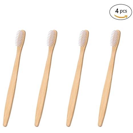 Cepillo de dientes de madera de bambú, respetuoso con el medio ambiente, hecho con
